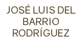 JOSE LUIS DEL BARRIO RODRIGUEZ